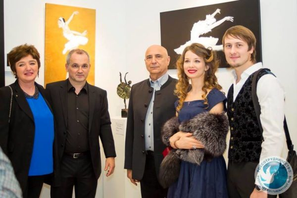 """Exhibition in """"Russian Culture Institute"""" in Vienna devoted to the 90th anniversary of the legendary Maya Plisetskaya. November 2015"""