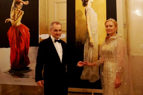 Leo Stopfer presented his paintings at 12th Moscow Ball in Vienna